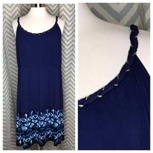 💥 Style & Co sundress navy blue 0X